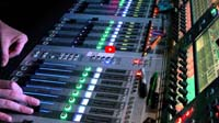 Audio Mixing FOH view of mixing Legally Blonde
