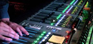 Audio Mixing FOH view of mixing One Day More from Les Miz